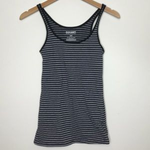 Old Navy Black Striped Tank Top Size Small